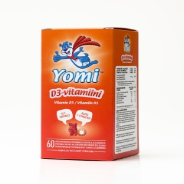YOMI VITAMIIN D3 NÄRIMISTBL 10MCG N60